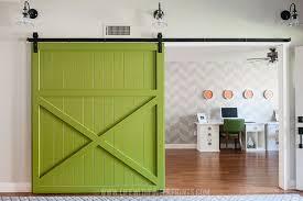 modern barn doors. Modern Green Barn Door DIY Doors