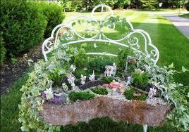 fairy gardens. My Fairy Garden\u0027s Best Garden \u0027container\u0027 An Old Bench Turned Into A Gardens