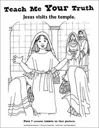 Small Picture Teach Me Your Truth Coloring Page Jesus in the Temple Downloadable
