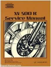 yamaha virago manual 1983 yamaha xv500k virago motorcycle service manual 800 426 4214