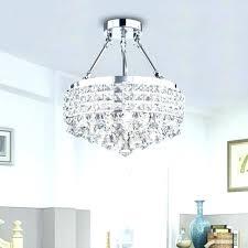 semi flush drum lights drum light with crystals round chandelier shade antique bronze 4 light crystal