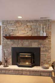 Decorations:Modern Rock Fireplace Interio Design Idea Cool Rock Fireplace  Mantel Decorating Ideas