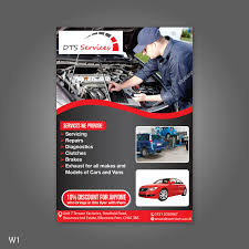Auto Repair Flyer Bold Modern Auto Repair Flyer Design For A Company By