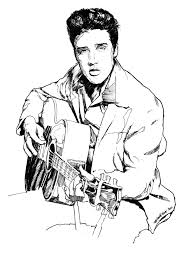Small Picture Elvis Presley Coloring Pages 26418 Bestofcoloringcom