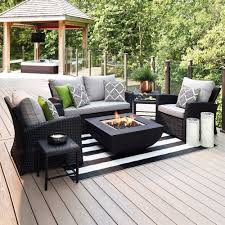 Shop allen roth piedmont 4 piece patio conversation set at lowes canada