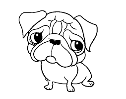 Small Picture Pug coloring page Coloringcrewcom