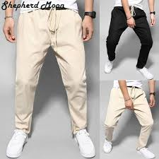 <b>Men's</b> Street Fashion <b>Casual Trousers</b> Of Pure Colors In <b>Europe</b> And ...