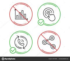 Click Chart Diagram Stop Diagram Graph Call Center Click Icons Simple Set Share