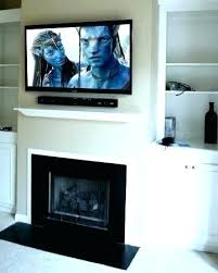 mounting tv without studs above fireplace can you hang a over gas installation tn metal