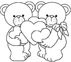 Valentines Day Teddy Bear Coloring Pages Color Bros