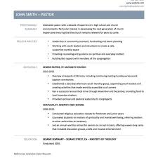 Ministry Resume Templates Download Pastor Resume Template