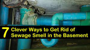 sewage smell in the basement