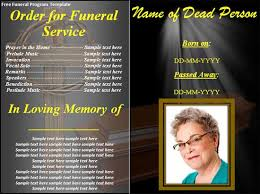 Funeral Flyer Sample - Cypru.hamsaa.co