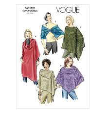 Poncho Sewing Pattern Best Vogue Patterns 48 Capes Poncho And Wrap