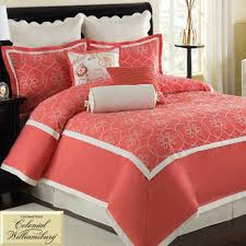 Bedroom: Cute Coral Bedspread For Nice Decorative Bedding Design ... & Aqua Bedspreads and Comforters | Coral Bedspread | Coral Comforter Sets Adamdwight.com