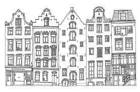 Amsterdamse Grachtenpanden Google Zoeken Op House Drawing With