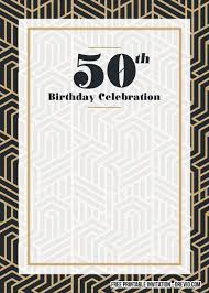 50th birthday invitations free printable free printable 50th birthday invitation templates free
