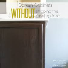 Pneumatic Addict  Darken Cabinets WITHOUT Stripping The Existing - Oak bathroom vanity cabinets