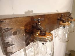 rustic bathroom lighting fixtures. Mason Jar Vanity Light Fixture, Country Primitive, Rustic Wood, Vintage Style Bathroom Lighting Fixtures \
