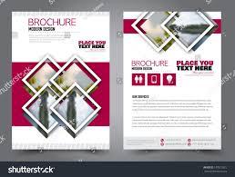 Advertisement Brochure Flyer Design Business Brochure Template Annual Stock Vector 8