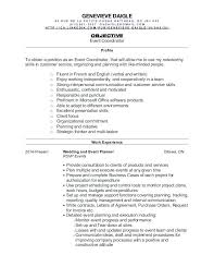 Resume For Event Coordinator Event Planner Resume Sample To Supply