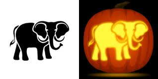 Elephant Pumpkin Carving Pattern Gorgeous Elephant Pumpkin Carving Stencil Free PDF Pattern To Download And