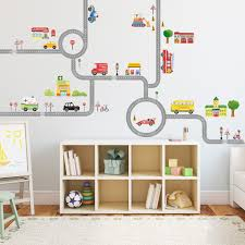the road and cars nursery kids wall stickers for boys l