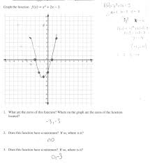 splendid graphing a quadratic function students are asked to graph solving equations by worksheet answer key