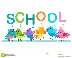 word theme download cute cartoon birds birds and the word school school theme stock