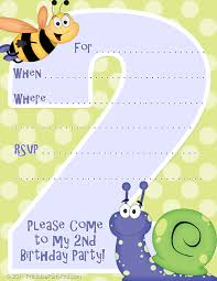 printable birthday party invitation templates birthday party printable party invitations invitation template for a 2nd birthday