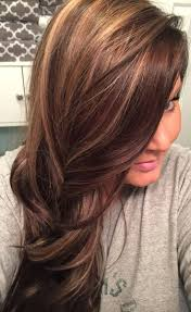 Chocolate Brown Hair Colour With Blonde Highlights