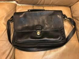 coach black leather briefcase attache 5180 metropolitan vintage made in usa