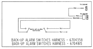 back up lights and alarm circuit on bobcat 873 514150701 previous then a black jumper wire connects to the normally open terminal of the two switches lastly the black ground wire connects to the common terminal of the