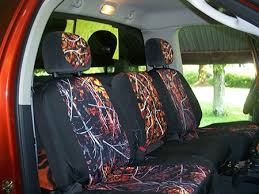 car or truck with camo seat cover