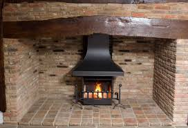 inglenook open fire with handmade canopy