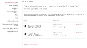 Fabulous Fridays Bidding For A Business Class Upgrade On