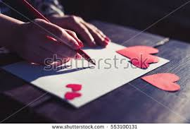 Girl Write Love Letter Her Lover Stock Photo (Royalty Free ...