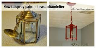 how to paint brass chandelier man paint brass chandelier bronze