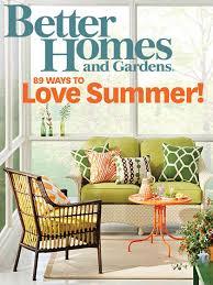 Fresh Better Homes And Garden Magazine Gardens  Home Designs