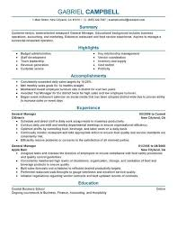 Restaurant General Manager Resume Examples Free To Try Today