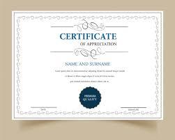 Certificado De Gratitud En Blanco Descargar Vectores Gratis