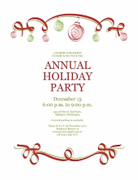 Christmas Template For Word Delectable Free Holiday Party Invitation Templates Word Kubreeuforicco With
