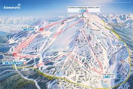 mammoth mountain ski area trail map  official site
