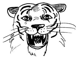 Coloriage Tete De Tigre De Face Dessin A Imprimer Dessincoloriage