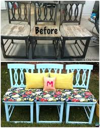 how to repurpose old furniture bench from old chairs ways to old chairs ideas repurposed furniture