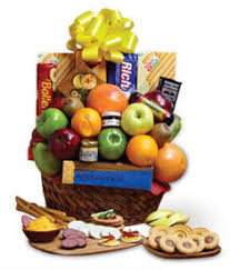new york gourmet gift basket with meat and cheese delivered today fresh fruit