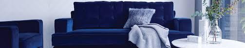 Blue Sofa Modern 3 Seater Sofas Contemporary Sofas Heals