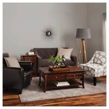Nolan Bonded Leather Living Room Club Chair Espresso Threshold