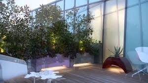 roof terrace with led lighting by mylandscapes contemporary garden design you