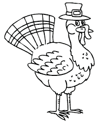 Printable Pilgrim Coloring Pages Thanksgiving Turkey In Pilgrim Hat